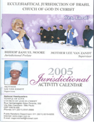 Picture of ECCLESIASTICAL JURISDICTION OF BRASIL CHURCH OF GOD IN CHRIST 2005 JURISDICTIONAL ACTIVITY CALENDAR